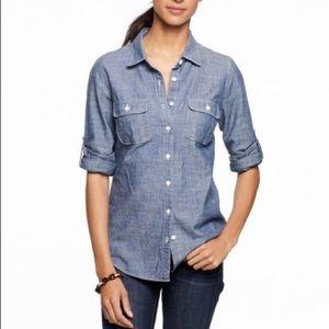 J.Crew Two-Pocket Chambray Buttondown Denim Shirt